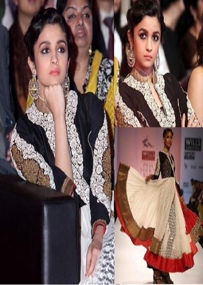 Alia Bhatt White Anarkali