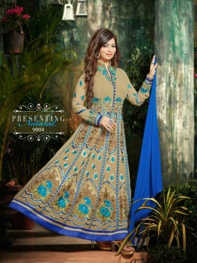 Ayesha takia Eid Special Hand work Beige Anarkali Suit