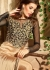 Beige color pure satin party wear anarkali suit