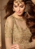 Beige color georgette party wear anarkali suit