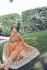 Orange color georgette and net party wear anarkali suit 2-in-1 style
