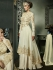 off white color net and satin geo crush party wear anarkali suit