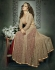 Beige and red color net and banglori silk party wear anarkali suit
