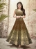 Mouni Roy mehendi green color faux georgette wedding wear anarkali suit