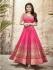 Mouni Roy pink color faux georgette wedding wear anarkali suit