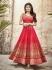 Mouni Roy Red color faux georgette wedding wear anarkali suit