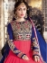 Pink and blue color pure georgette wedding wear anarkali suit