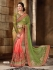 Green and pach Lycra and Art silk Designer Saree