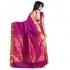 Exclusive Art Silk Paithani theme Border & Rich Zari butta saree - Rani