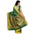 Kanchipuram Art Silk Saree Mango design With Blouse Piece-Pakistani Green