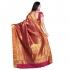 Kanchipuram Silk Full Brocade Zari lotus Saree -Red