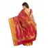 Kanchipuram Silk Full Brocade Zari Art flower Saree-Red