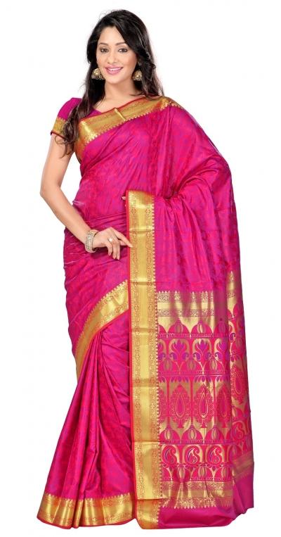 Nandani Art Silk Rich ZariPallu Emboss Art saree-Rani