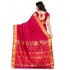 Nandani Art Silk Rich ZariPallu Emboss Art saree-Red