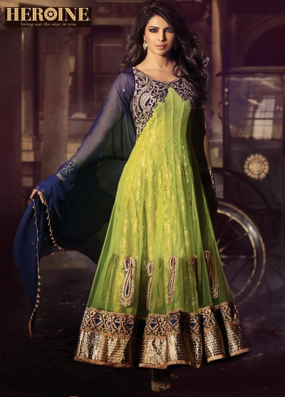 Priyanka chopra green anarkali