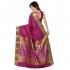 Kanchipuram Silk Abstract Paisely Rich Zari Pallu Emboss saree-Violet