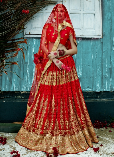 Red-net-embroidered-work-wedding-wear-lehenga-choli-398