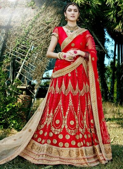 Red-net-embroidered-work-wedding-wear-lehenga-choli-400