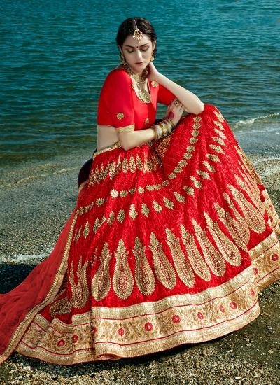 Red-net-embroidered-work-wedding-wear-lehenga-choli-401
