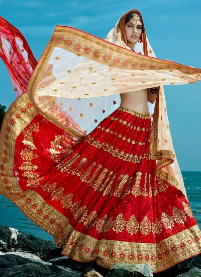 Red-net-embroidered-work-wedding-wear-lehenga-choli-399-1