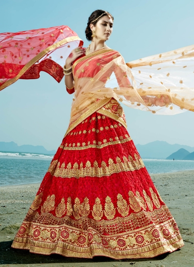 Red-net-embroidered-work-wedding-wear-lehenga-choli-402-1