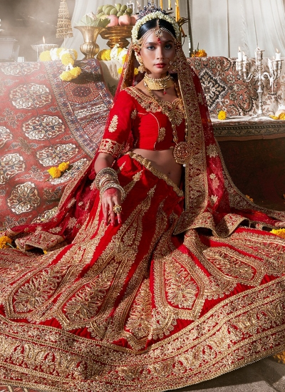 maroon-velvet-wedding-wear-patch-work-a-line-lehenga-343