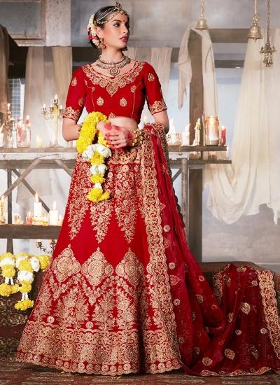 maroon-velvet-wedding-wear-patch-work-a-line-lehenga-348