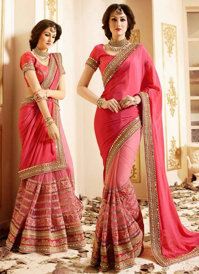 patch-border-work-party-wear-saree-peach-chiffon