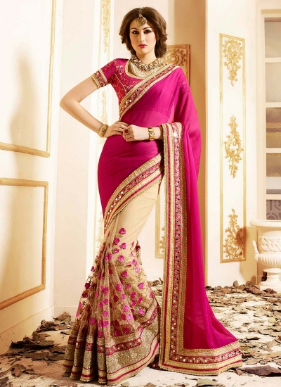 patch-border-work-party-wear-saree-pink-chiffon