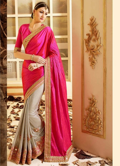 patch-border-work-party-wear-saree-pink-paper-silk