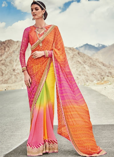 faux-georgette-heavy-embroidery-work-party-wear-Saree-multi-color-2006