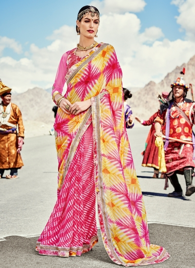 faux-georgette-heavy-embroidery-work-party-wear-Saree-pink-2004