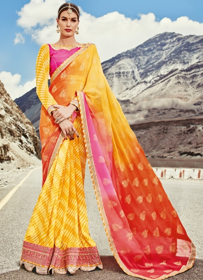 faux-georgette-heavy-embroidery-work-party-wear-Saree-yellow-2003