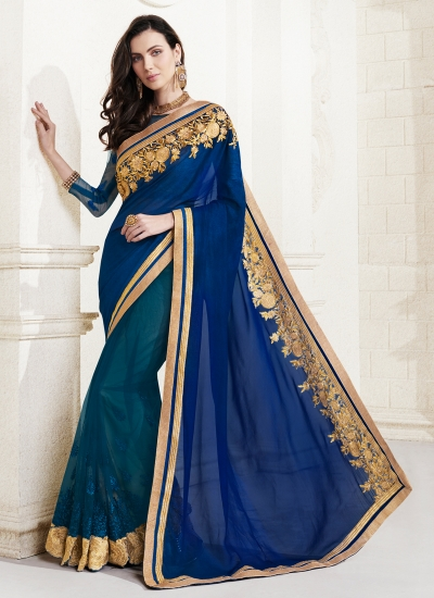 georgette-embroidery-work-party-wear-saree-blue-2511