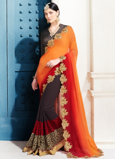 georgette-embroidery-work-party-wear-saree-orange-2503