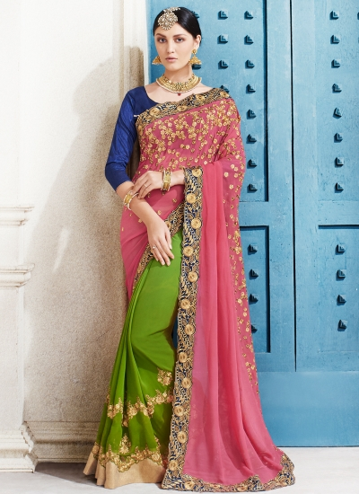 georgette-embroidery-work-party-wear-saree-pink-2502