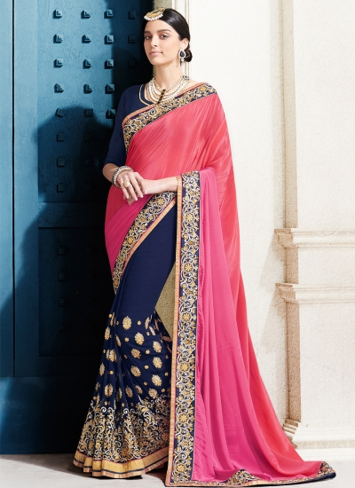georgette-embroidery-work-party-wear-saree-pink-2518