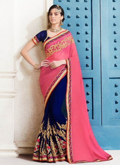 chiffon-embroidery-work-party-wear-saree-pink-2509