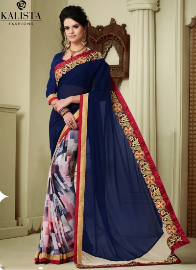 georgette-lace-border-work-party-wear-saree-blue-1605