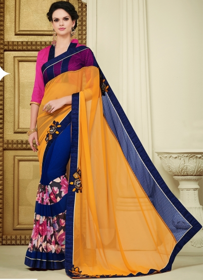 georgette-patch-work-party-wear-saree-blue-1602