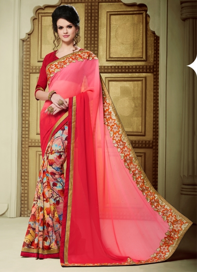 georgette-patch-work-party-wear-saree-pink-1603