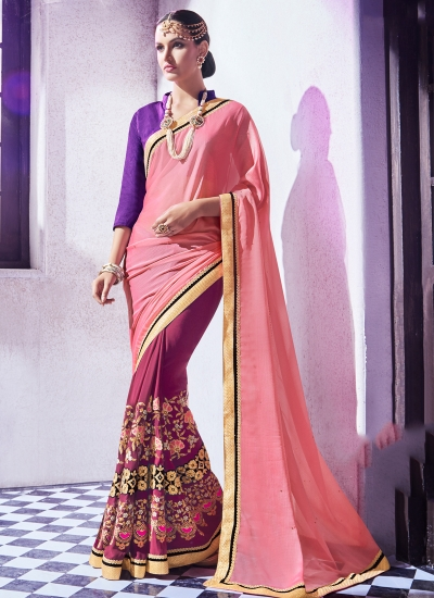 georgette-embroidered-work-party-wear-saree-pink-9511