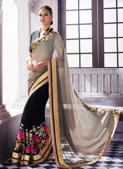jacquard-embroidered-work-party-wear-saree-grey-9504