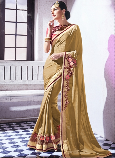 jacquard-embroidered-work-party-wear-saree-mose-green-9506