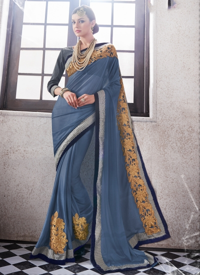 lycra-embroidered-work-party-wear-saree-grey-9510