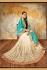 Chandan silk blue and beige color designer wedding wear saree