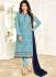 Ayesha Takia Blue and navyblue color georgette salwar kameez