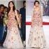 Bollywood style katrina kaif multi color gown