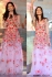 Bollywood style katrina kaif multi color gown