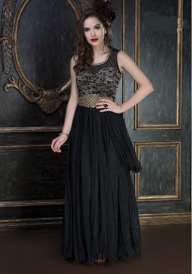 Embroidery-work-net-santoon-black-gown